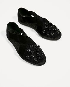 7c89dafed52 New Zara Floral Leather Espadrilles Shoes 6.5