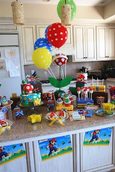 Cake Pops Galore: Super Mario Bros Birthday