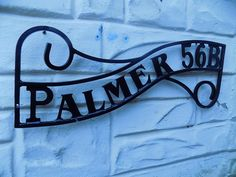 Wrought Iron (Forged Steel) Custom Made Lettered House Plaque