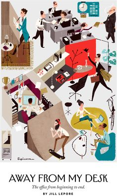 """Leo Espinosa Illustration for the New Yorker article """"Away from my Desk"""""""