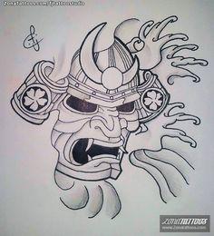 Hinh Xăm Mặt Quỷ 14 Samurai Tattoos Tattoo Designs Samurai Tattoo
