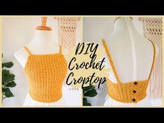 Crochet Cable, Crochet Crop Top, Diy Crochet, Crochet Crafts, Crochet Bikini, Lace Top Outfits, Crochet Handles, Knitting Machine Patterns, Crochet Designs