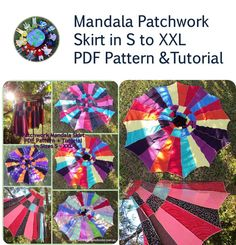 INSTANT Download PDF Tutorial and Pattern by SamisDollSupplies, $5.00 Patchwork Skirt