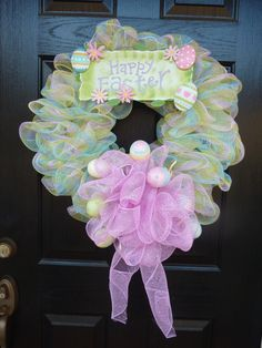 Pretty Pastel Easter Wreath