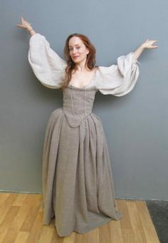 """""""My favorite Geillis dress. I call it the Moth Dress. I think it defines her."""" - Terry Dresbach gives behind the scenes information on her wonderful costumes. She is the costume designer for Outlander on Starz. Diana Gabaldon, 18th Century Dress, 18th Century Fashion, Historical Costume, Historical Clothing, Terry Dresbach, Period Outfit, Period Costumes, Outlander Series"""