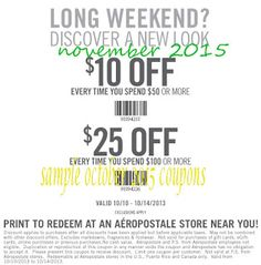 Printable Coupons: Aeropostale Coupons