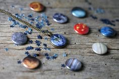 Interchangeable Solar System Galaxy Necklace