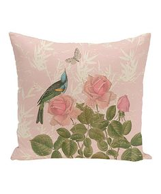 Look what I found on #zulily! Pink Asian Rose Throw Pillow #zulilyfinds