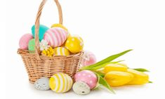 Shop Basket with Easter Eggs on White Background Holiday Postcard created by eggstravaganza. Easter Gift, Happy Easter, Easter Wishes, Birthday Wishes, Holiday Postcards, Holiday Cards, Egg Pictures, Easter Wallpaper, Easter Backgrounds