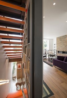 This Dramatic London Renovation Boasts a Five-Story Bookcase | Dwell