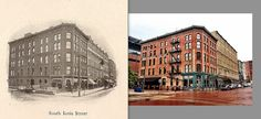 *Finally* found an image of South Ionia. The photo on the left was taken around 1900 and the one right was shot May 7, 2012. What's interesting is that at some point after 1900, another floor was added to 15 Ionia, which houses Bar Divani and Georgio's Pizza.