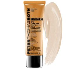 This stuff is amazing. My skin is clearer and of all the tinted moisturizers and creams I have tried, PTR offers the best color for my medium skin-tone. Peter Thomas Roth - CC Cream Broad Spectrum SPF 30 Complexion Corrector  #sephora