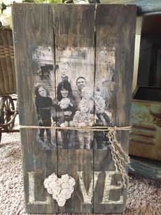 on a pallet with twine.  Must do the old black and white  ' Little Rascal' pic of us kids from Navy Homes.