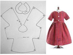 Простая и универсальная выкройка платья для кукол и игрушек