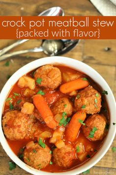 Crock pot Meatball Stew Crock Pot Meatball Stew Recipe is hearty and delicious. Throw everything in the slow cooker and dinner is a breeze with this simple Crockpot Meatball Stew. Slow Cooker Recipes, Beef Recipes, Healthy Recipes, Budget Recipes, Meatball Recipes, Recipies, Easy Crockpot Meatballs, Crockpot Meals, Meatball Stew