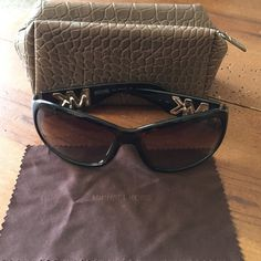 Michael Kors sunglasses style Boca dark brown Michael Kors BOCA sunglasses - AUTHENTIC MK - they are a dark brown - worn a few times no scratches great condition - comes with brown soft zip case and cleaning cloth in pictures - price not firm make an offer! Michael Kors Accessories Sunglasses