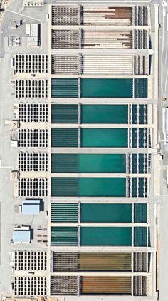 Joseph Jensen Water Treatment Plant, Granada Hills, California, USA.Overview captured with Apple Maps. Satellite imagery from Digital Globe.Copyright 2014, Daily Overview.