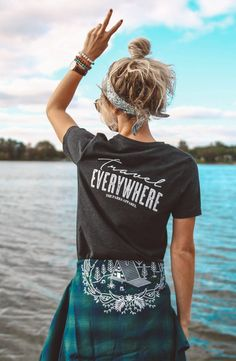 c6c7898000 The Parks Apparel presents our Travel Everywhere cropped tee. Go  everywhere