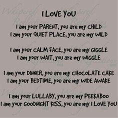 Parents love poem