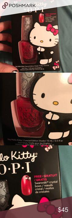 Hello Kitty OPI collector nail polish set Great OPI Hello Kitty nail polish-limited edition with Swarovski crystal bows.  Brand new, never used. OPI Other