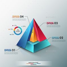 Buy Modern Infographic Options Template by Andrew_Kras on GraphicRiver. Modern infographics options banner with colorful pyramid divided into 4 options and pie chart. Infographic Template Powerpoint, Powerpoint Design Templates, Presentation Skills, Presentation Templates, Web Design, Tool Design, Graphic Design, Visual Note Taking, Certificate Design Template