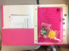 Everyday Math game folder. Easy to send home and keep organized in the classroom.