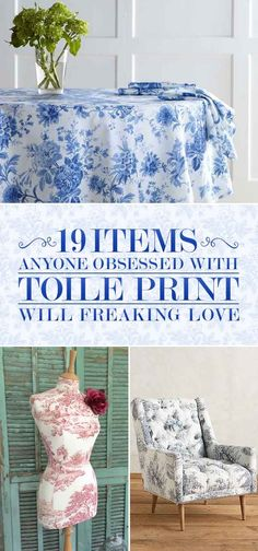 19 Items Anyone Obsessed With Toile Print Will Freaking Love