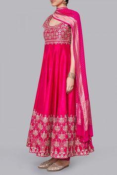 Designer Suits - Buy Anika Suit for Women Online - Pink - Anita Dongre Indian Wedding Outfits, Bridal Outfits, Indian Outfits, Indian Clothes, Bridal Dresses, Pakistani Dress Design, Pakistani Outfits, Pakistani Bridal, Bridal Lehenga