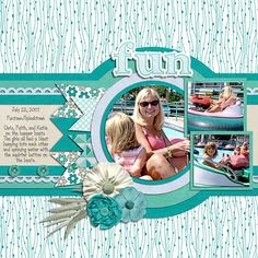 Out of the Blue by Seatrout Scraps template set 122 by Cindy Schneider Font - DJB It's Full of Dots