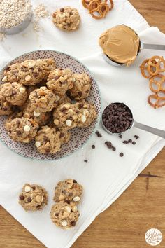 Loaded Peanut Butter Pretzel Oatmeal Cookies from A Kitchen Addiction