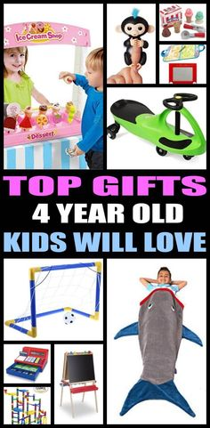 The Ultimate Gift Guide for 4 year olds! Find the top birthday gifts that a 4 year old boy or girl will love! Shopping for a 4 year old can be hard... so here are some of the best birthday gift ideas to help you.