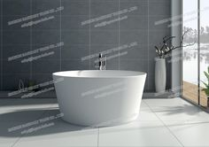 8626- Solid Surface Stone Bathroom Tub-JINGZUN. Finish :matt or gloss Color: white/black/red/others Website: http://jingzun-bath.en.made-in-china.com