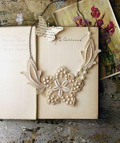petite jardin lace earrings by whiteowl on Etsy