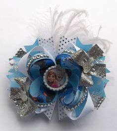 Frozen Handmade Boutique Hair Bow - OTT Hair Bow (Over The Top)