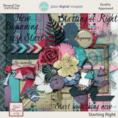Starting Right #graceblosssoms4U #digital #digitalscrapbook #scrapbookkit  #pagekit #photography #scrapbook