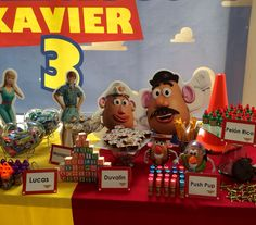 Toy story candy table