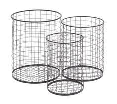 3 Piece Handy Metal Container Basket Set | Wayfair - $85.99