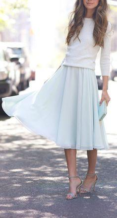 Flowy midi skirt.