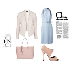 #pastels #office #quiet #day #Pink #sandals #bag #sunny #side of weekdays #Belted #Dress #Double #Collar #Blazer