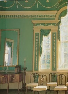 New Room, Mount Vernon.  General Washington loved bright colors.