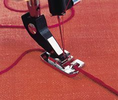 Embellishing with a couching or cording foot. Oh how marvelous those possibilities are!