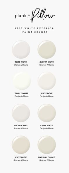 The Best Interior White Paint Colors - Plank and Pillow. In this article I list . - The Best Interior White Paint Colors – Plank and Pillow. In this article I list my favorite white - Off White Paint Colors, Ceiling Paint Colors, Off White Paints, Best White Paint, Neutral Paint Colors, Paint Colors For Home, Gray Paint, White Wall Paint, Off White Colour