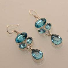 Beautiful swiss blue topaz designer fashion by 925silvercreation, $8.00