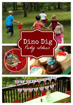 Dinosaur Egg Hunt Boy's Birthday Party - www.spaceshipsandlaserbeams.com