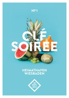 olé soiree - poster . graphic design inspiration . summertime colors . fruit