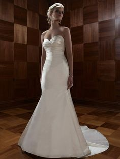 Perfect Satin Mermaid Sweetheart Wedding Dress