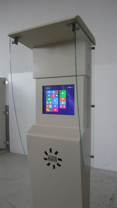 AVENITA outdoor interactive kiosk. Design and robust for any environment. by PARTTEAM & OEMKIOSKS. See more at www.oemkiosks.com #avenita #partteam #oemkiosks #outdoor #interactive #touch #lcd #outdoorlcd
