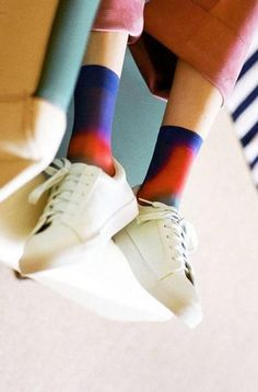 cute socks to go with those white sneaks.