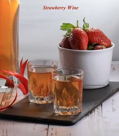 Kerala Strawberry wine recipe Homemade Wine Recipes, Wine Ingredients, Strawberry Wine, Yummy Food, Tasty, Cake Decorating, Menu, Fruit, Kerala