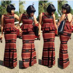 ankara skirt and blouse 2017